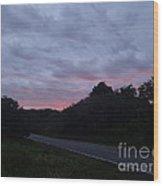 Red Sky Road Wood Print