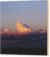 Red Skys At Morn Wood Print