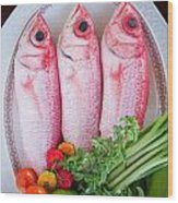 Red Snappers Wood Print