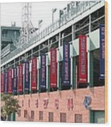Red Sox Heroes Wood Print by Sue  Thomson