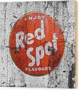 Red Spot Wood Print