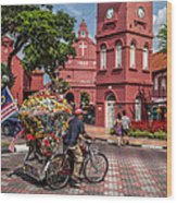 Red Square Malacca Wood Print