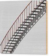 Red Steps On Tank 2 Wood Print