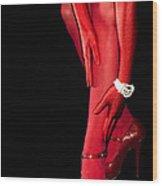 Red Stockings02 Wood Print