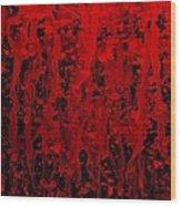 Red Streaks Wood Print