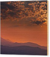 Red Sumer Sunset Wood Print