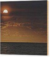 Red Sun Wood Print