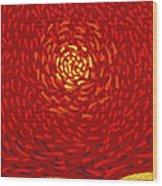 Red Sun Wood Print by Sergey Khreschatov