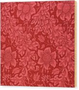 Red Sunflower Wallpaper Design, 1879 Wood Print