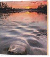 Red Sunset Wood Print