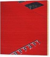 Red Supercar Wood Print