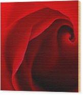 Red Swirl Wood Print