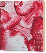 Red Swirls Background Wood Print