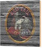 Red Tail Wood Print