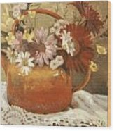 Red Teapot Wood Print