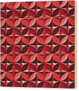 Red Textured Wall Wood Print