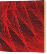 Red Threads  Wood Print