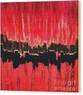 Red Thunder Clash II Wood Print