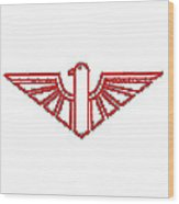 Red Thunderbird 1 Wood Print