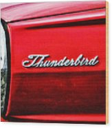Red Thunderbird Wood Print
