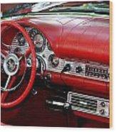 Red Thunderbird Dash Wood Print