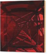 Red Tower Wood Print