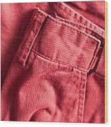 Red Trousers Wood Print