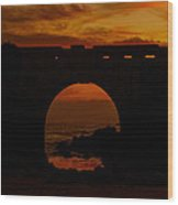 Red Twilight II Wood Print
