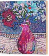 Red Vase IIi Wood Print