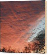 Red Velvet Sky Wood Print