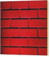 Red Wall Wood Print by Semmick Photo