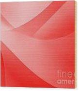 Red Wallpaper Wood Print