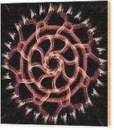 Red Wheel Wood Print by Michael Jordan