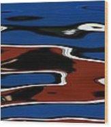 Red White And Blue IIi Wood Print