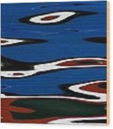 Red White And Blue Iv Wood Print by Heidi Piccerelli