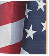 Red White And Blue Wood Print by Laurel Powell