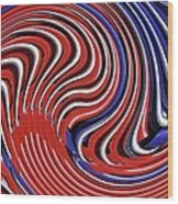 Red White And Blue Wood Print by Sarah Loft