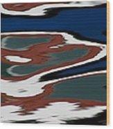 Red White And Blue Vi Wood Print by Heidi Piccerelli