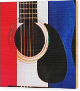 Red White And Blues Wood Print