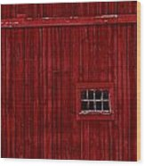 Red Window Wood Print