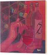 Red Wine Room Wood Print by Debi Starr