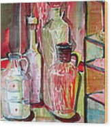 Red Wine Vinegar Wood Print by Mindy Newman