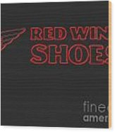 Red Wing Shoes Painted Wood Print