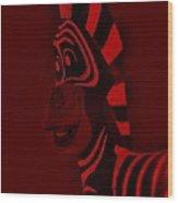 Red Zebra Wood Print