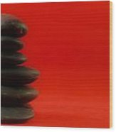 Red Zen Wood Print