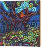 Redbird Sings Song Of Love Wood Print