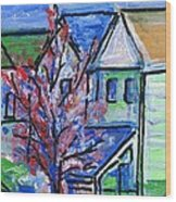 Redbud Tree At West Cape May Wood Print