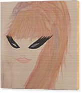 Redhead Woman Wood Print