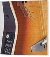 Redish-brown Guitar Wood Print