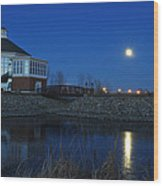 Redlin Art Center In Full Moon Wood Print